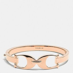 Coach Rose Gold Signature C Link Bangle